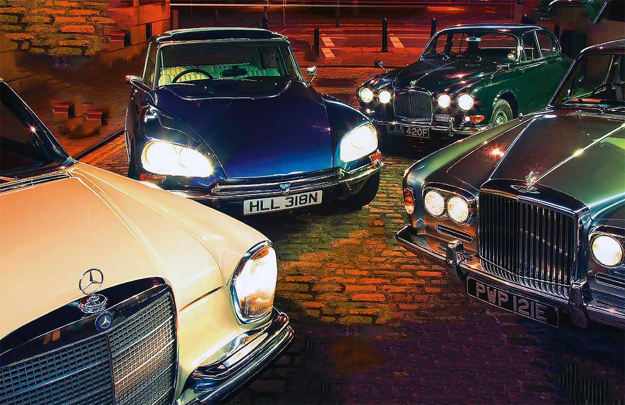 Cool Cars Under 10k >> Bentley T1 vs Mercedes 280SE W108 series, Jaguar 420G and Citroen DS23ie - Drive