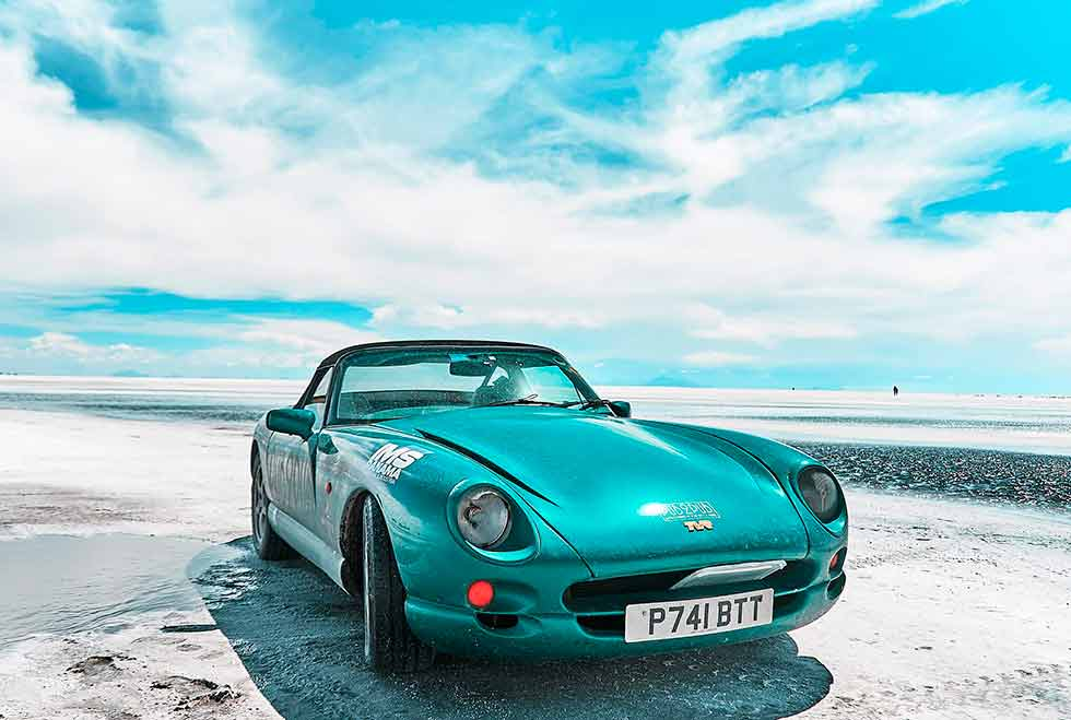 Driving A TVR Chimaera Through Salt And Dirt In Pursuit Of A Cold Beer At The End Of The Earth