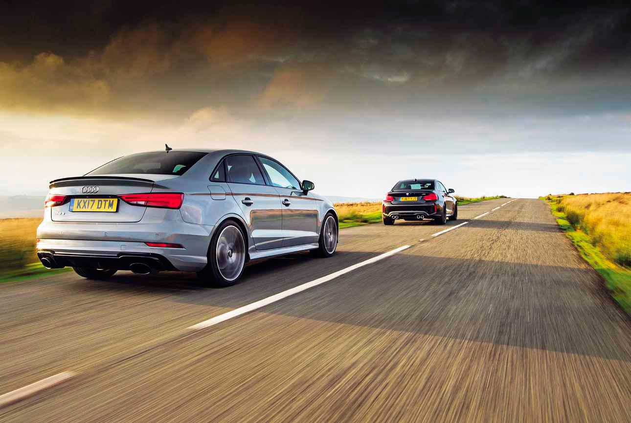 Twin Test 2018 Audi Rs3 Saloon Quattro 8v Vs 2018 Bmw M2
