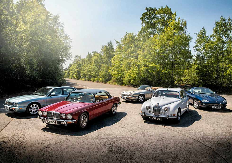 1966 Jaguar S-type vs. 1977 Jaguar XJ5.3C, 1994 Jaguar XJS 4.0 Convertible, 2000 Jaguar XKR X100 and 2002 Jaguar XJR X308 - comparison road test