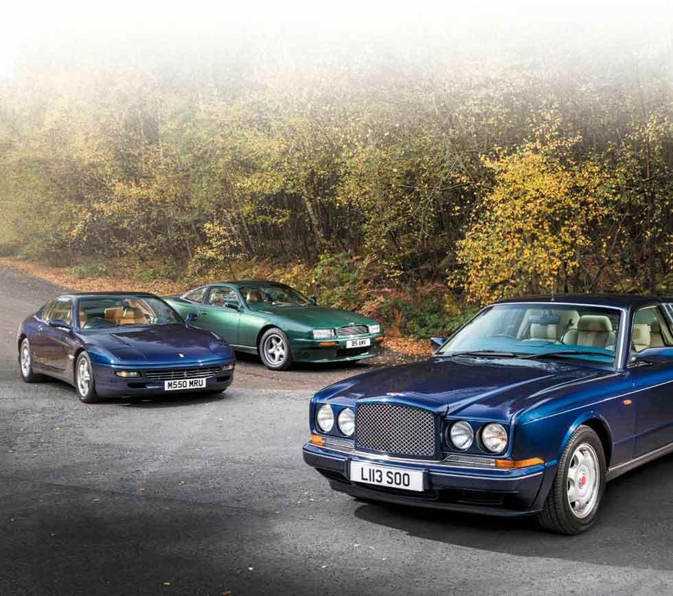 Cars Bentley Continental R 1992: 1990 Aston Martin Virage Vs. 1993 Bentley Continental R
