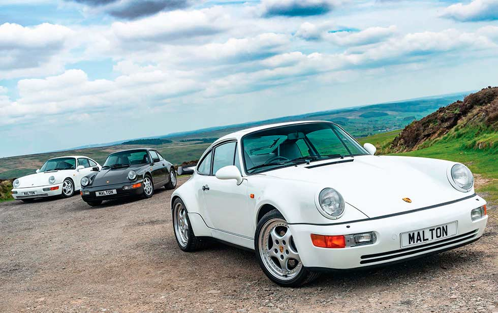 964 hits 30 - Porsche 911 Carrera 2 964 vs. Porsche 911 Turbo 3.3 964 and Porsche 911 Carrera RS  964