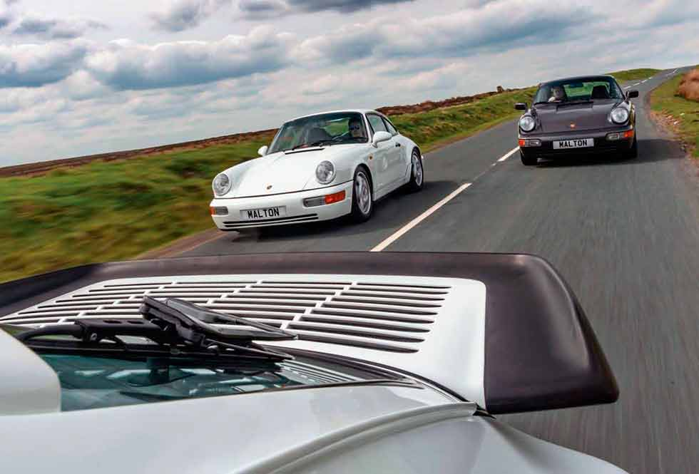 Porsche 911 Carrera 2 Tiptronic 964 vs. Porsche 911 Turbo 3.3 964 and Porsche 911 Carrera RS 964