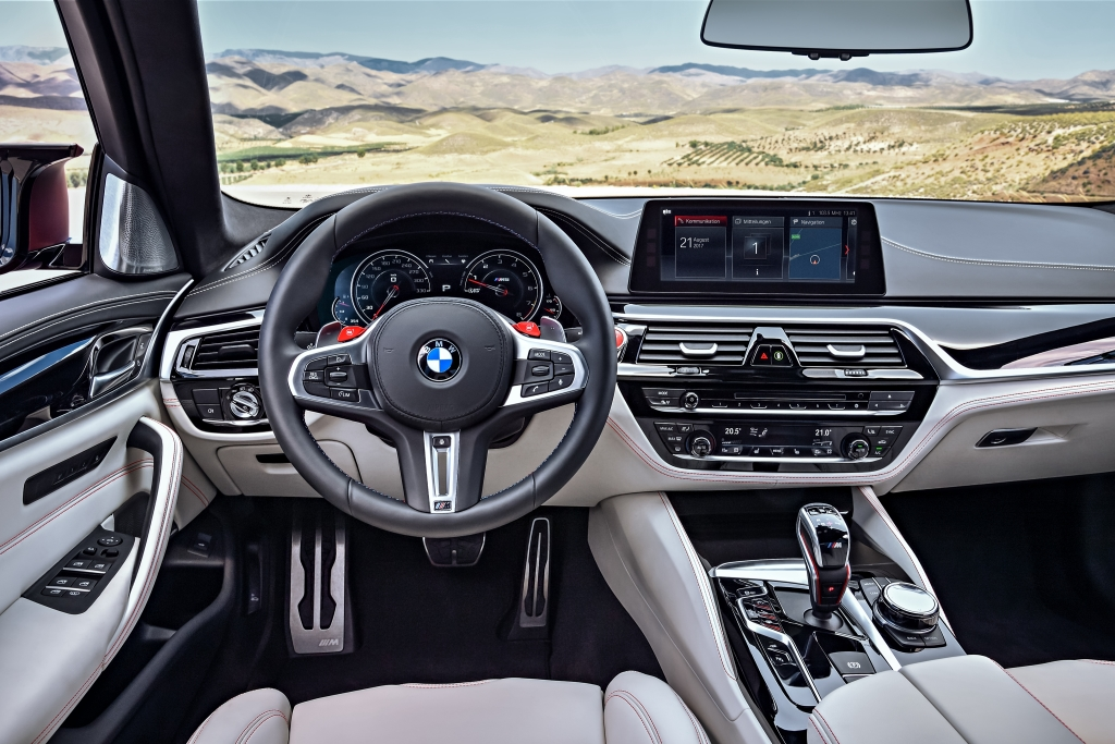 2018 BMW M5 F90 interior LHD