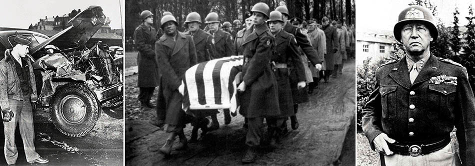 Death of General George S Patton at the end of World War Two – when his Cadillac 75 crashed