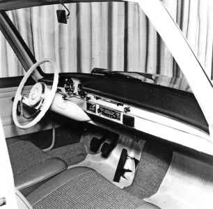 1960 Mercedes-Benz W118/W119 Prototype interior