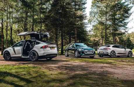 2020 Audi e-Tron vs. 2019 Jaguar i-Pace HSE and 2018 Tesla Model X