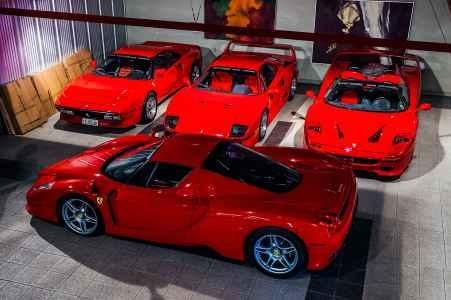 1984 Ferrari 288GTO vs. 1987 F40, 1995 F50 and 2002 Enzo