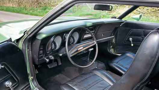 1972 Ford Mustang Grandé - interior LHD