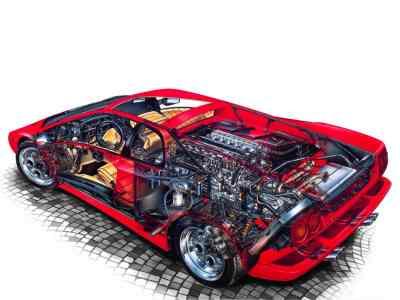 Lamborghini Diablo cutway