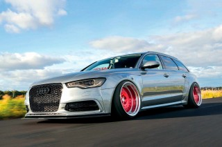 Sweden wide-arched tuned-remapped 210bhp Audi A6 2.0 TDI Avant C7