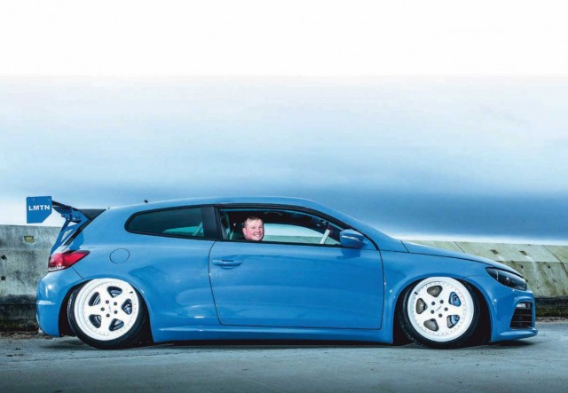 197bhp tuned BMW Yas Marina Blue Volkswagen Scirocco 2.0-litre TDI MkIII Typ 13