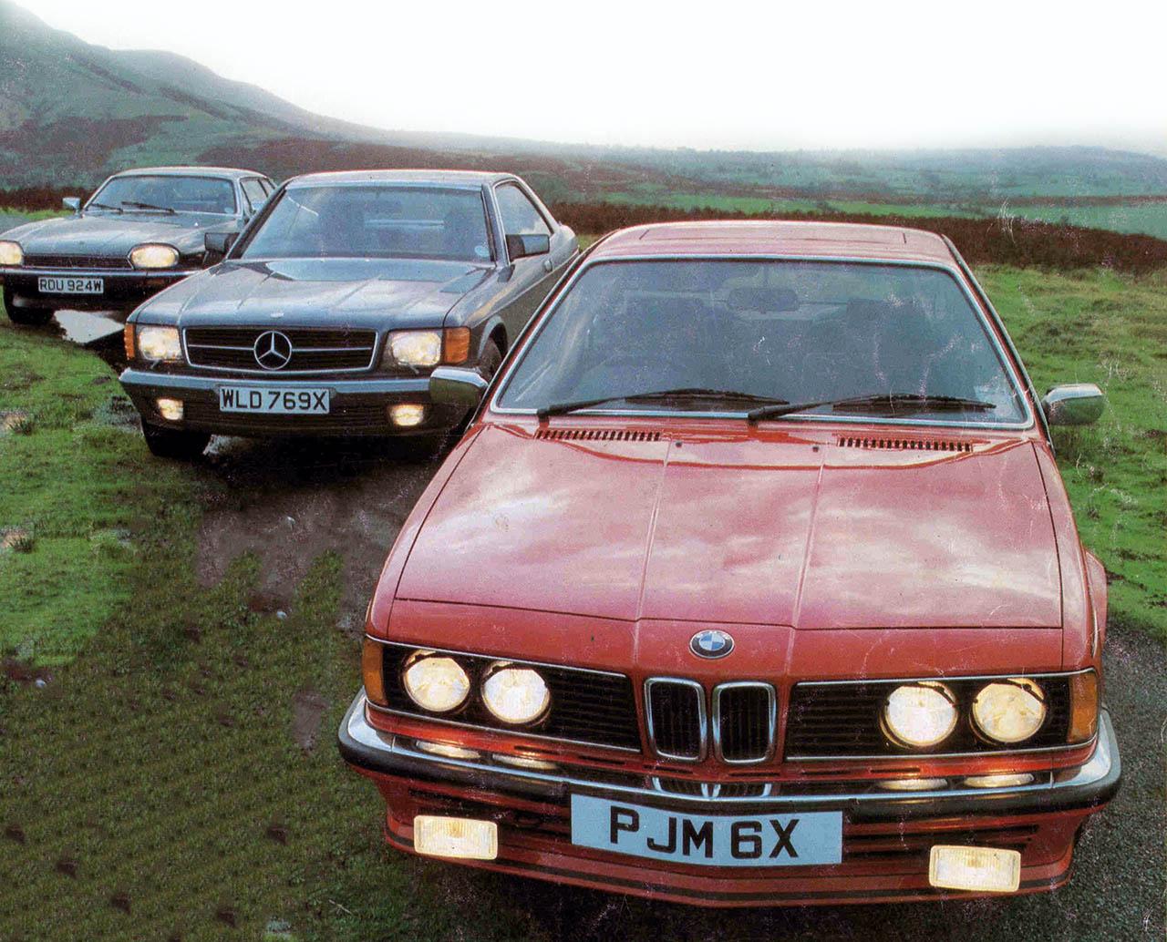 1983 BMW 635CSi E24 vs. Jaguar XJS HE and Mercedes-Benz 500SEC C126 - road  test