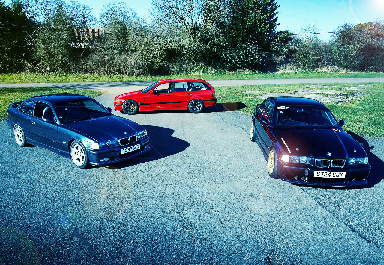 E36 1 three bmw e36s, three s54 swaps and three very different end