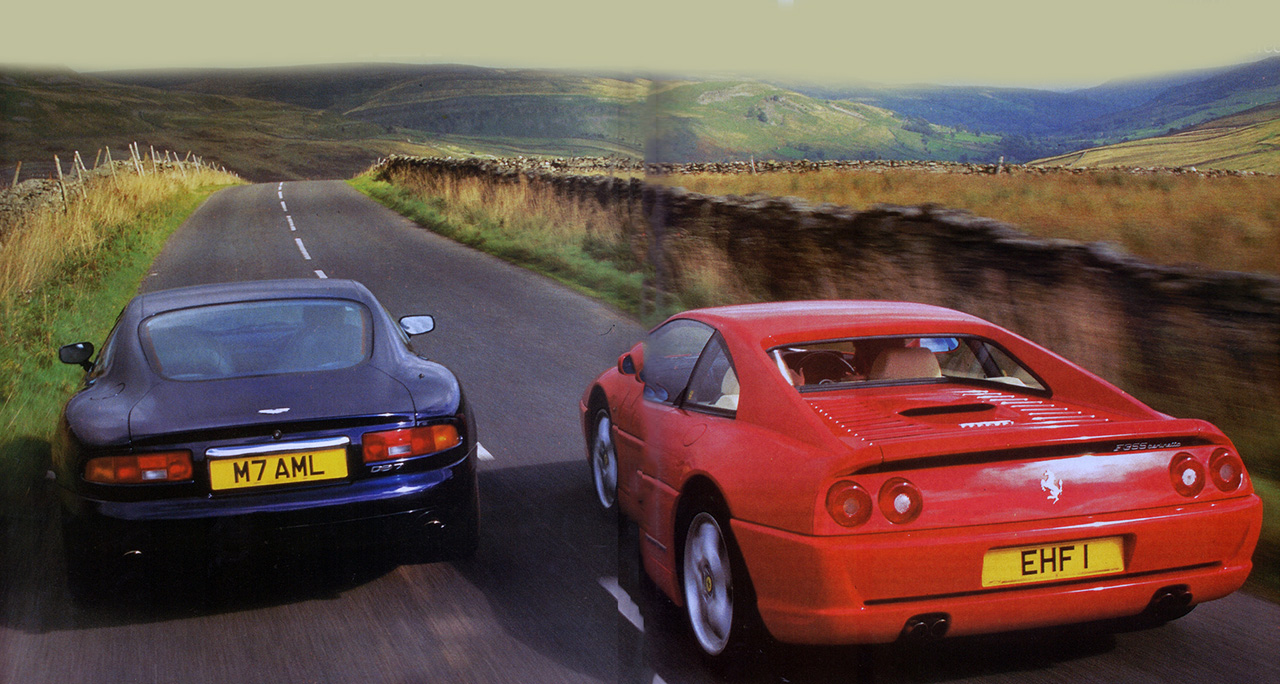 1994 Aston Martin Db7 Vs Ferrari F355 Road Test Drive My Blogs Drive
