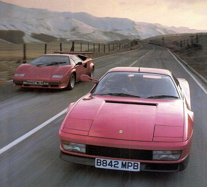1986 Lamborghini Countach Qv Vs Ferrari Testarossa Giant Road Test