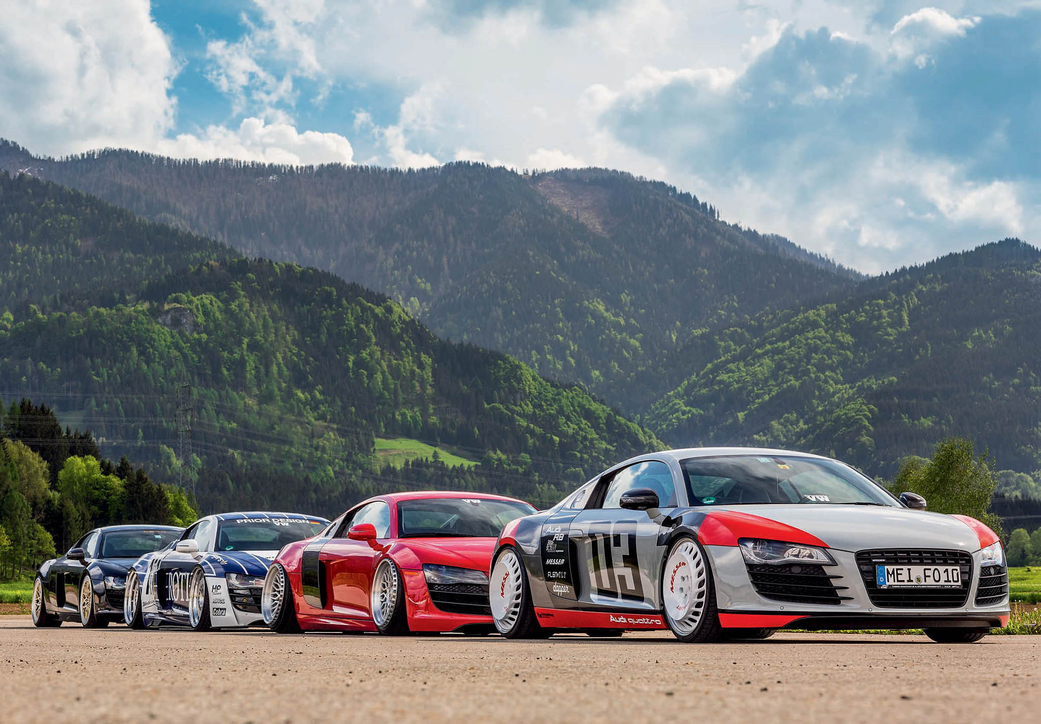 Four Of The World's Toughest Modified Audi R8 Typ 42 Drive My