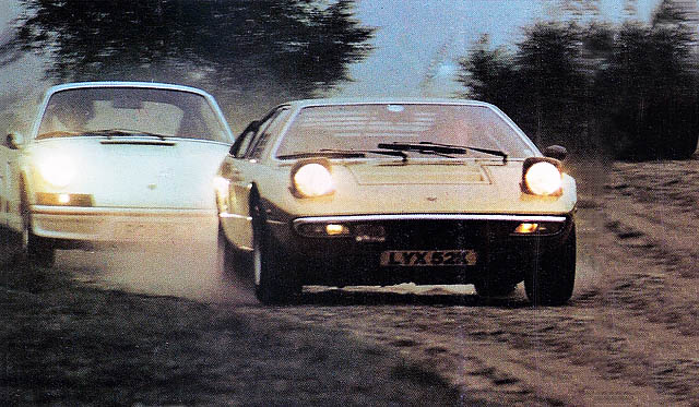 epic retro road test 1973 lamborghini urraco vs. 1973 porsche 911