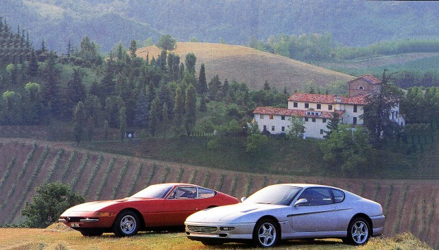 Giant road test 1993 Ferrari 456 GT vs. 1973 Ferrari 365 GTB/4 Daytona