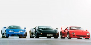 1994 Group Road Test Bugatti EB 110 vs. Ferrari F40 and Jaguar XJ220