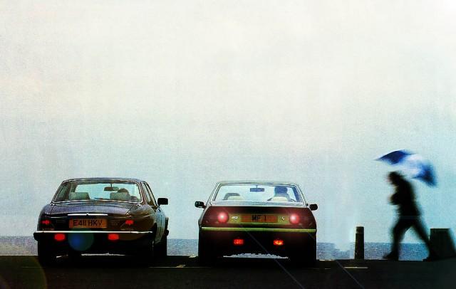 1988 Ferrari 412i and the Jaguar Sovereign V12