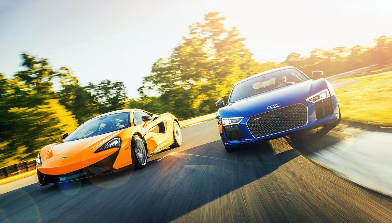 Mclaren 570 Gt Versus Audi R8 V10 Plus Coupe Drive My Blogs Drive