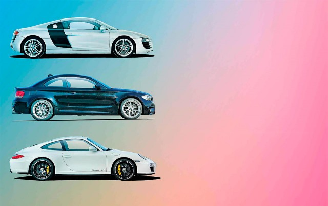 £50,000 used supercoupes - Audi R8 V8 Typ 42 vs. Porsche 911 Carrera GTS 997 and BMW 1M E82