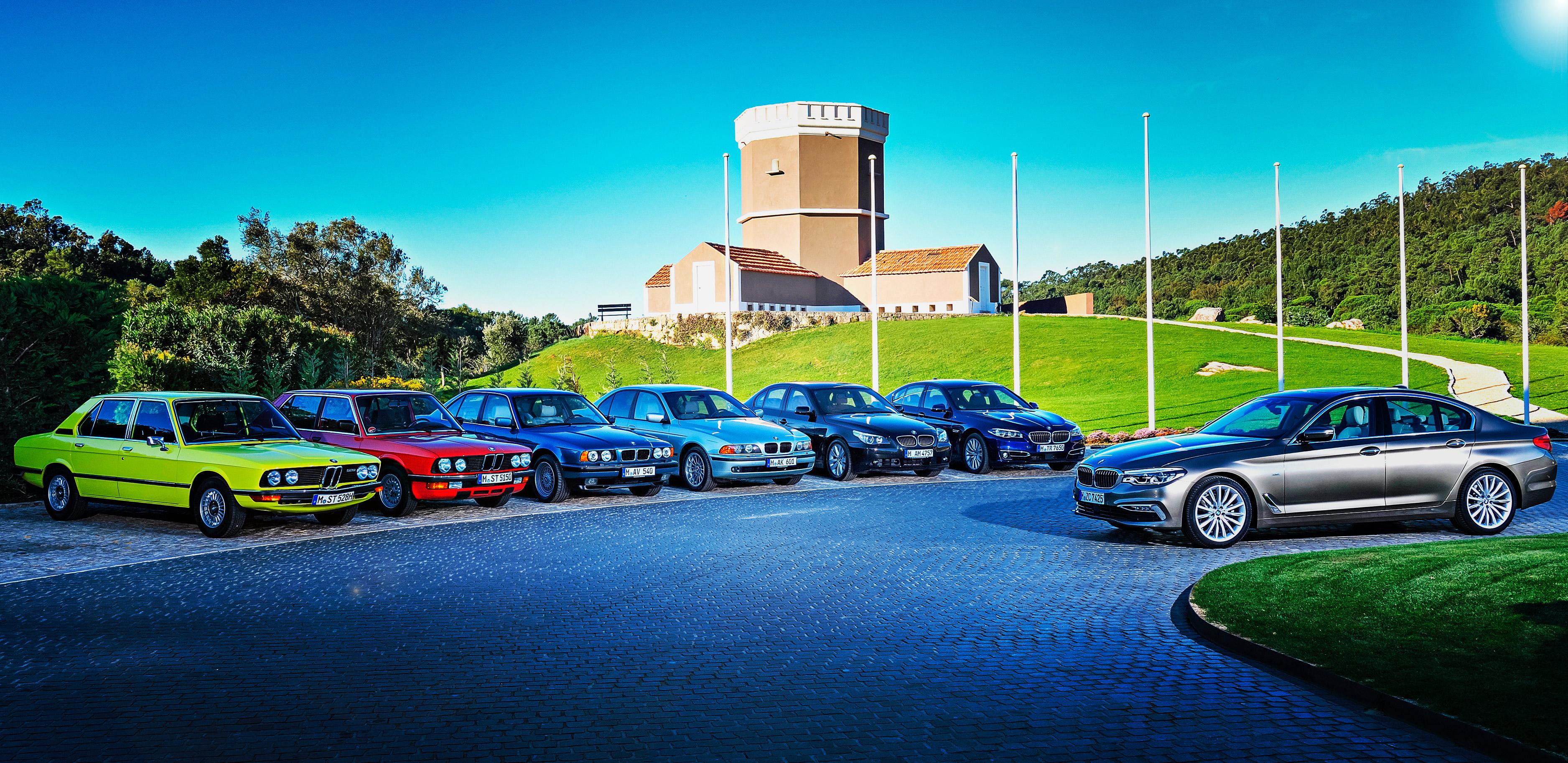 All Generations Of Bmw 5 Series Driving E12 E28 E34 E39 E60 F10 And New G30