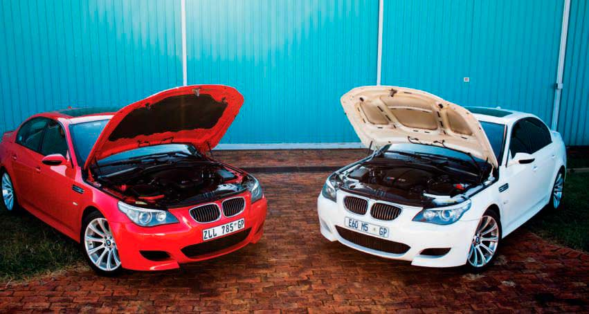 Bmw M5 Smg E60 Against An Example E60 M5 That S Been Converted To A