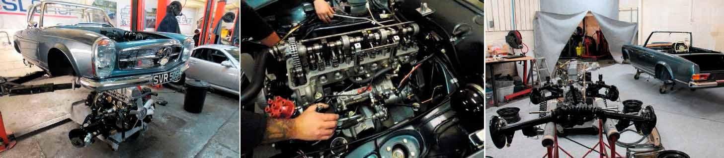 restoration mercedes benz 280sl automatic w113