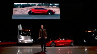 Elon Musk unveiled his new Tesla Truck and 2018 Tesla Roadster