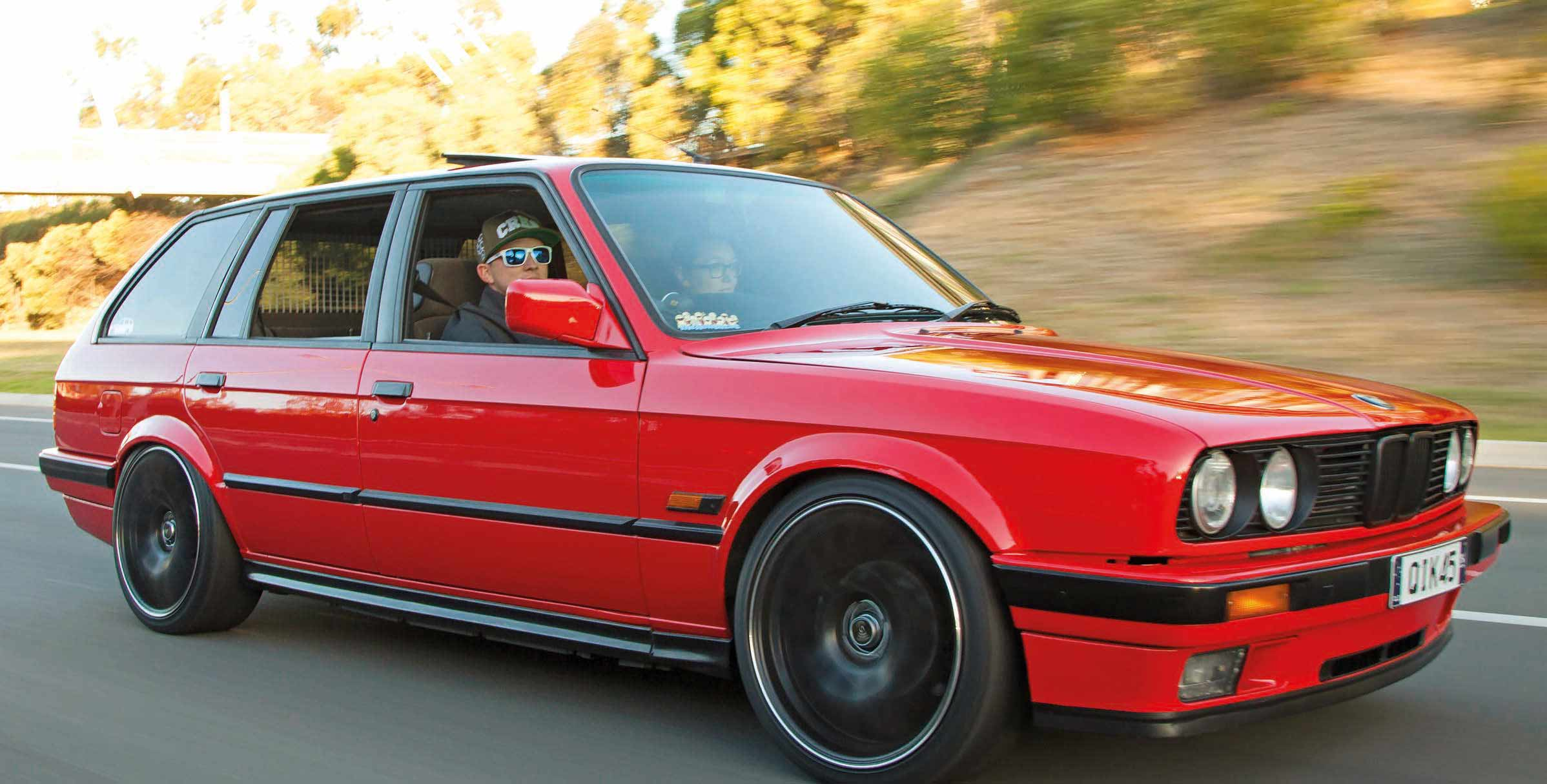 Little Red Booster Nissan SR20DET-swapped BMW E30 Touring
