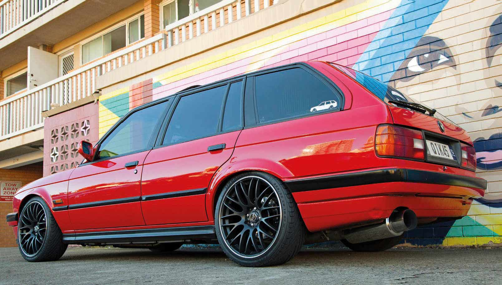 Little Red Booster Nissan SR20DET-swapped BMW E30 Touring - Drive-My