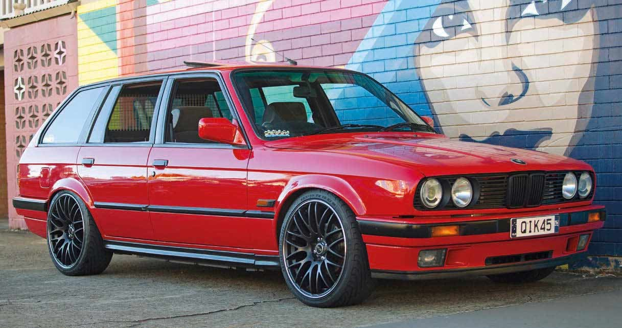 Little Red Booster Nissan Sr20det Swapped Bmw E30 Touring