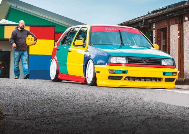 Most colourful VW Golf VR6 MkIII Harlequin