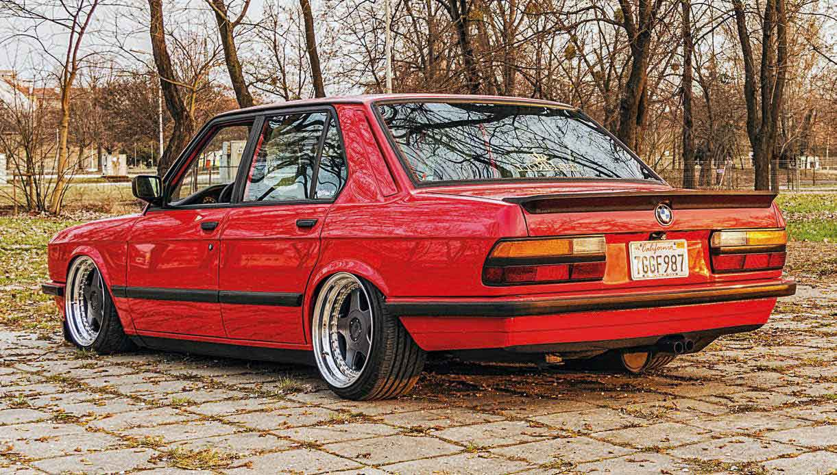 M30 Swapped Air Ride Bmw E28 Drive My Blogs Fuse Box E36 Radiator Has Been Fitted Custom Built Camber Plates Brake Booster And Master Cylinder Have Painted Red Engine Bay Is Ridiculously Clean