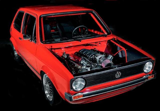 6.0-litre V8-engined Volkswagen Golf GTi Mk1