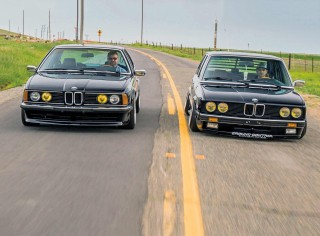 Stunning M60 4.0-litre V8-swapped BMW E28 5 Series and BMW E24 6 Series