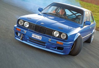 Nissan SR20DET-swapped drift BMW E30 Coupe