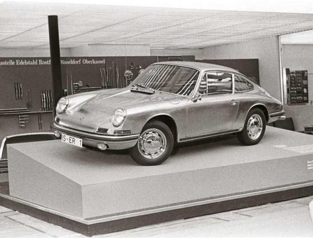 The stainless steel Porsche 911