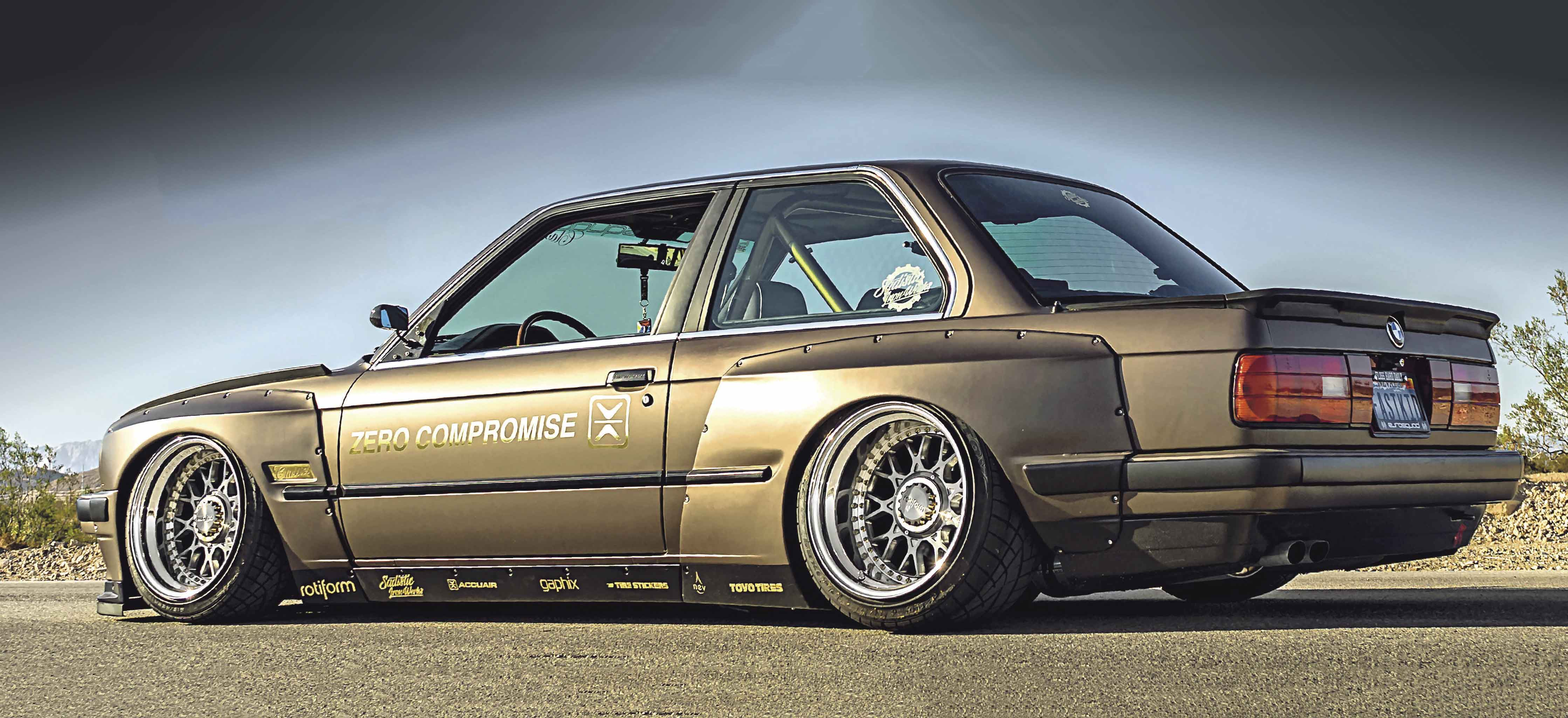 Wide-body BMW 325i Coupe E30 M20 2 5-litre engined with