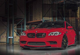 Tuned 620whp Imola Red BMW M5 F10