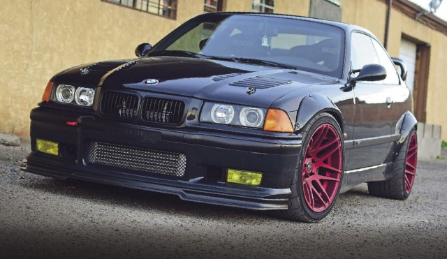 Supercharged 400hp S50-engined wide-arch BMW M3 Coupe E36