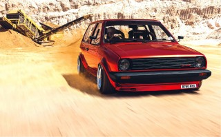 Bagged Volkswagen Polo Mk2 Breadvan Running 200bhp Tuned Supercharged G40 Engine