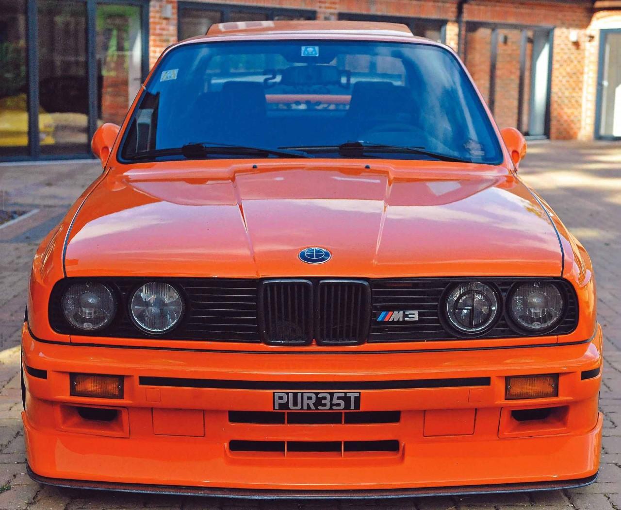 Nick Sahota's Orange BMW M3 E30