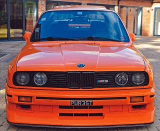 Me and my car - Nick Sahota's orange BMW M3 E30