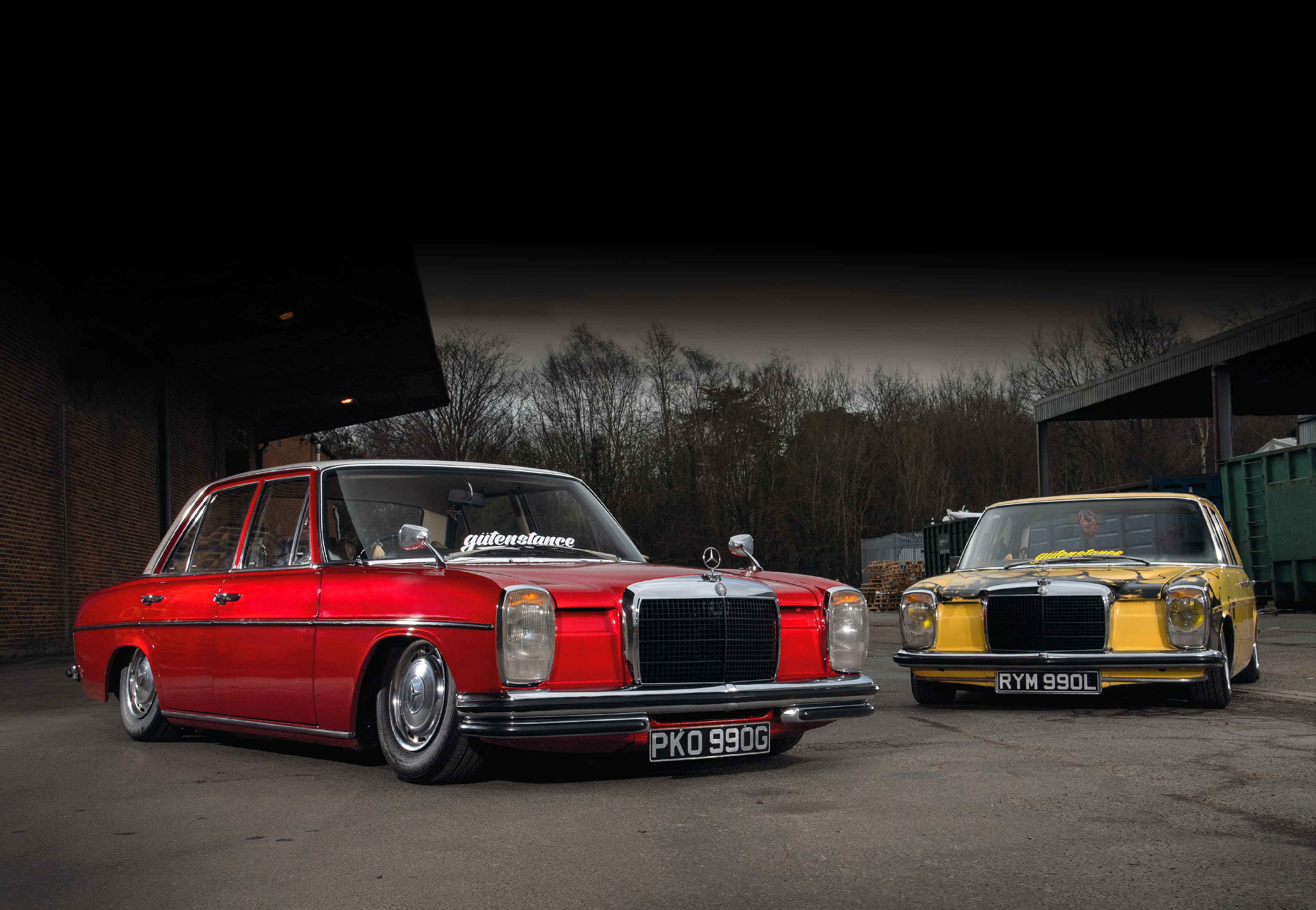 The Chelsea Lower Show Mercedes Benz 280 W114 Yellow And 250 Red