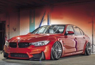 Slick air-ride BMW M3 F80