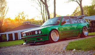 Rocket Bunny M50B25-swap BMW E30 Touring gets the Pandem treatment