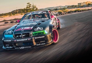 Carbon wide-body turbo drift BMW M3 E36